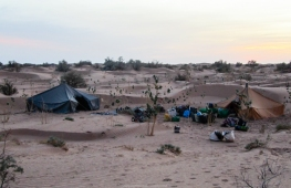 Campamento montado - Sáhara (Marruecos)