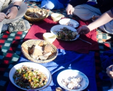 Comida en el desierto - Sáhara (Marruecos)