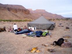 El campamento de la expedición