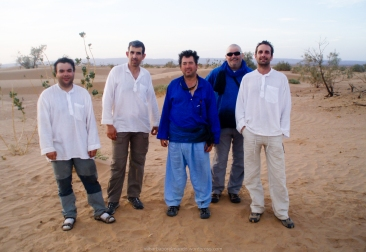 Parte del equipo en el Sáhara (Marruecos)