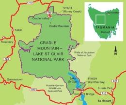 Overland Track Map