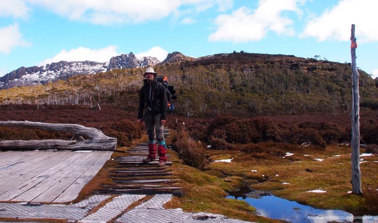 Saúl Ortega en Pelion Gap Tasmania