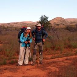 Mónica y Saúl en Heysen Trail (Australia)