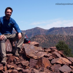 Saúl en Brachina Viewpoint - Outback (Australia)
