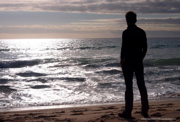 Saúl en Maslin Beach (Australia)