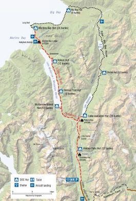 Hollyford Track Map
