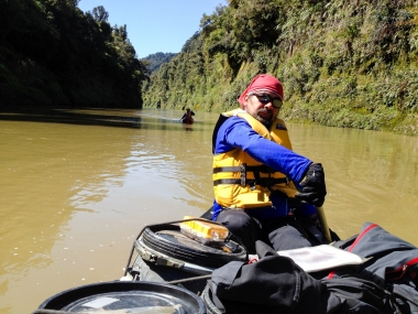 Jaime Barrallo en Whanganui River - New Zealand