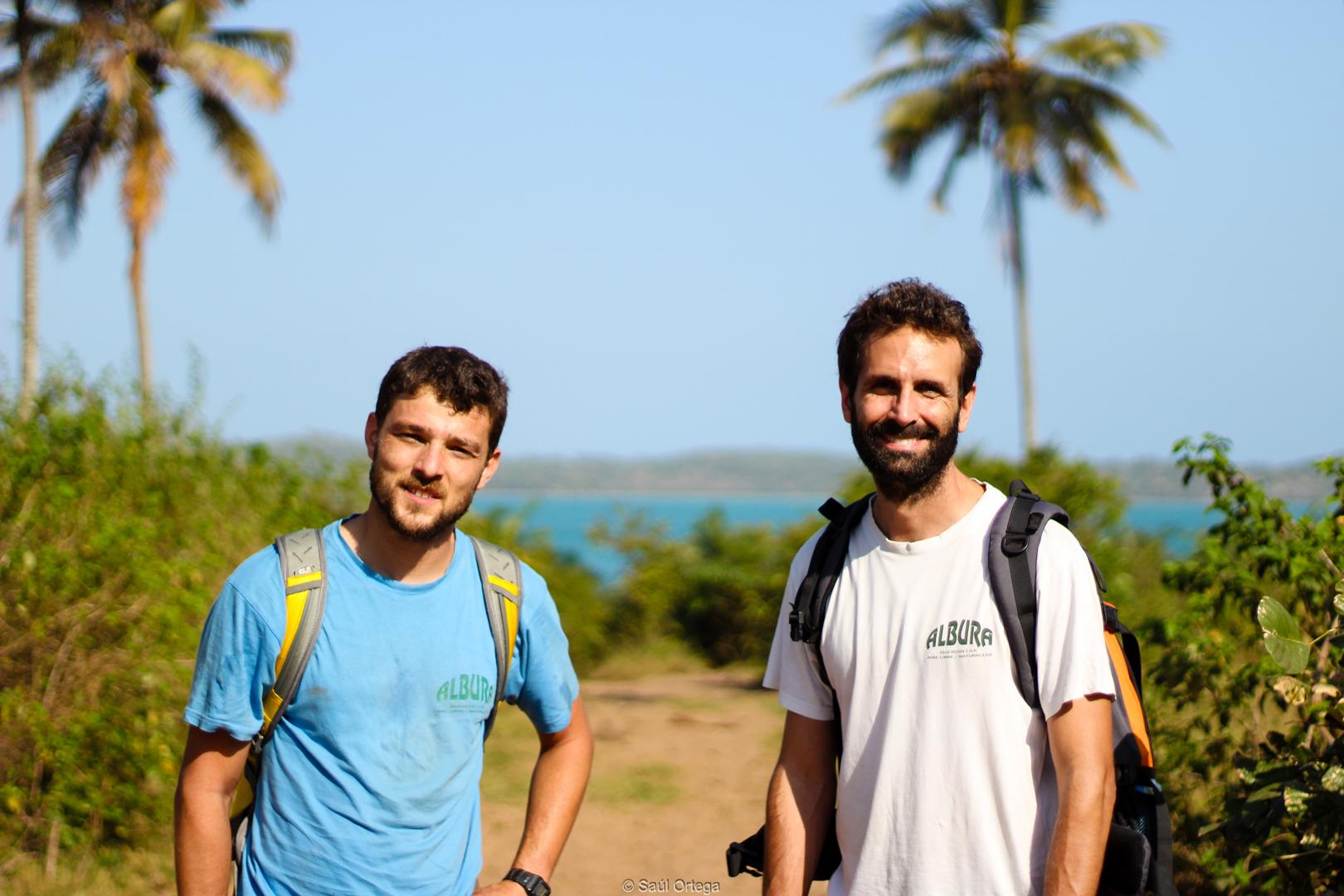 Miki y mi barba en Quissico (Mozambique)