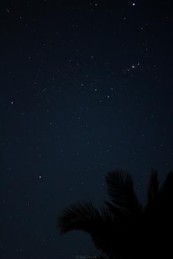 La constelación de Orión desde Quissico (Mozambique)
