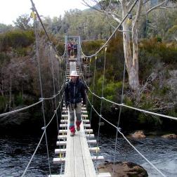 Puente colgante - Overland Track (Tasmania)
