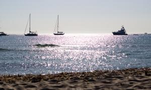 Vistas desde la playa de Illetes