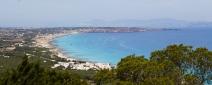 Vistas de la isla desde el restaurante El Mirador (Formentera)