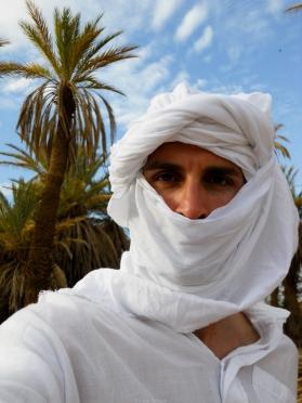 El dueño de la barba en un oasis del Sáhara (Marruecos)