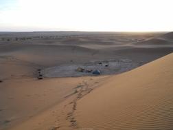 Campamento en las dunas