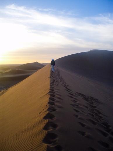 Amanecer desde las dunas