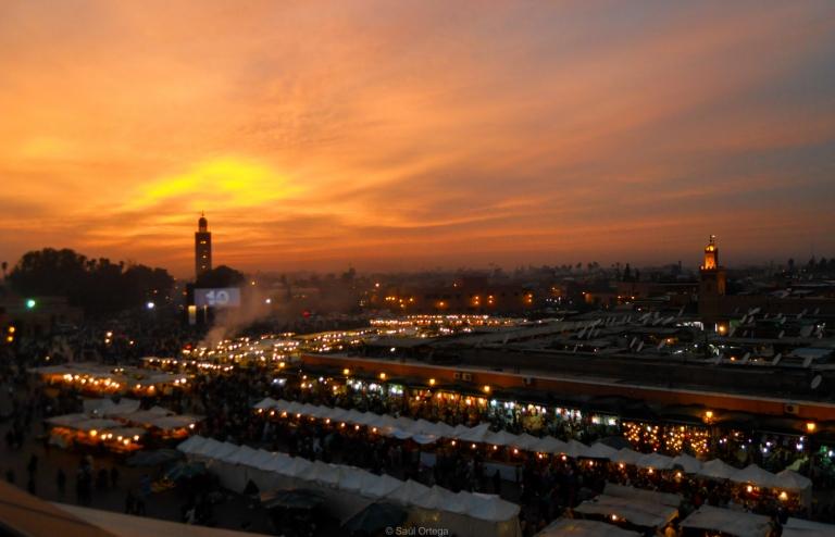 Marraketch al atardecer