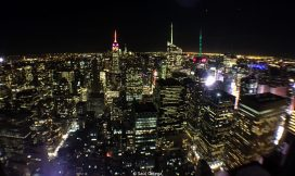 Skyline nocturno de Manhattan desde el Top of The Rock