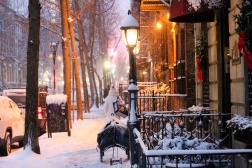 Calles de Manhattan con nieve