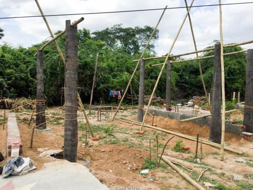 Avances de la construcción - Uthiramerur (India)
