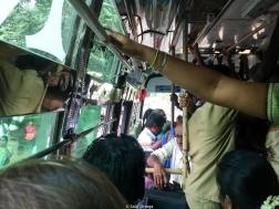 Autobuses abarrotadísimos (India)