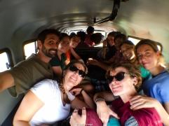 Típica forma de viajar en India