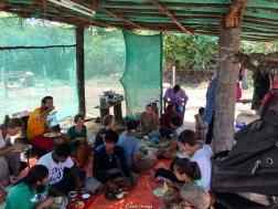 Aquí desayunábamos, comíamos y cenábamos. En el suelo y con las manos