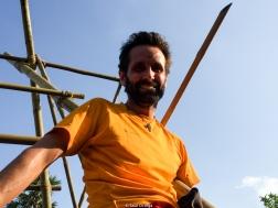 Mi barba en lo alto del bambú