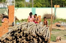 El principal material de construcción es el bambú tratado