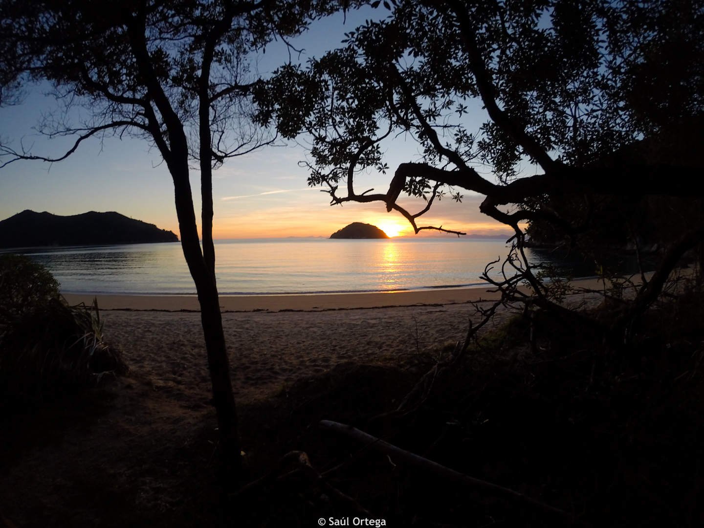 Abel Tasman sunset - New Zealand