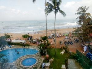 Vistas de Varkala desde el hotelHindustan Beach Retreat- India