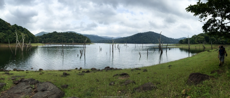 aisajes del parque nacional Periyar en Thekkady - Kerala - India