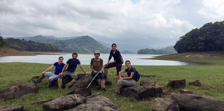 El equipo en el Parque Periyar - Kerala - India