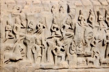 Bajorelieve en Mamallapuram - India