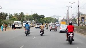 El tráfico es el caos en India