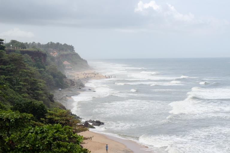 Vistas de la costa de Varkala - India