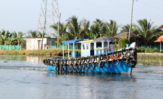Barco en Alappuzha - Kerala - India