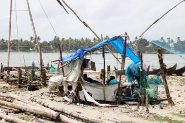 Pescadores en Kochi - India