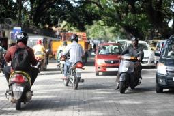 Tráfico caótico - India