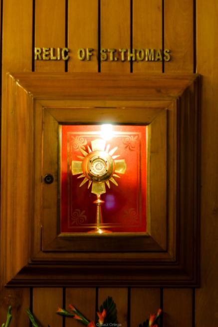 Reliquias de Santo Tomás en Chennai - India