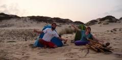 De acampada en Praia da Rocha