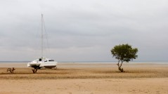 Con la marea baja Barra cambia de aspecto