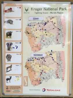 Panel informativo - Parque Kruger Sudáfrica