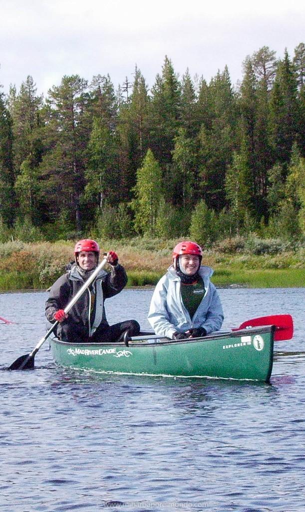 Mi barba en el timón de la canoa - Finlandia